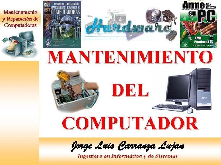 MANTENIMIENTO DE PC Slide 1