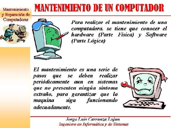 MANTENIMIENTO DE PC Slide 2