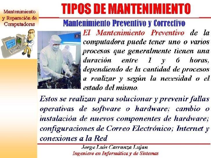 MANTENIMIENTO DE PC Slide 3
