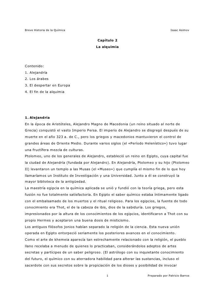 Asimov - Breve Historia de la Química 3/15