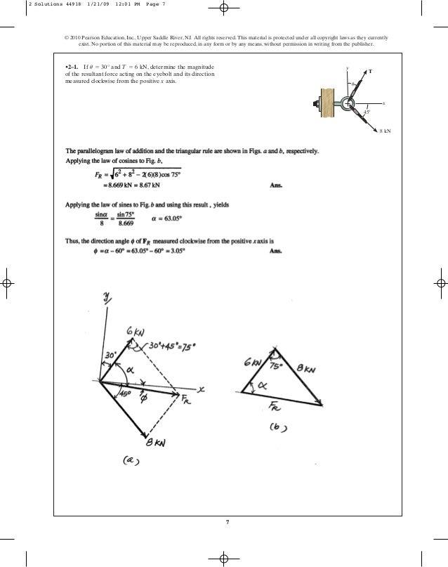 Solucionario Mecanica Vectorial Para Ingenieros Estatica 10 Edicion Hibbeler Pdf