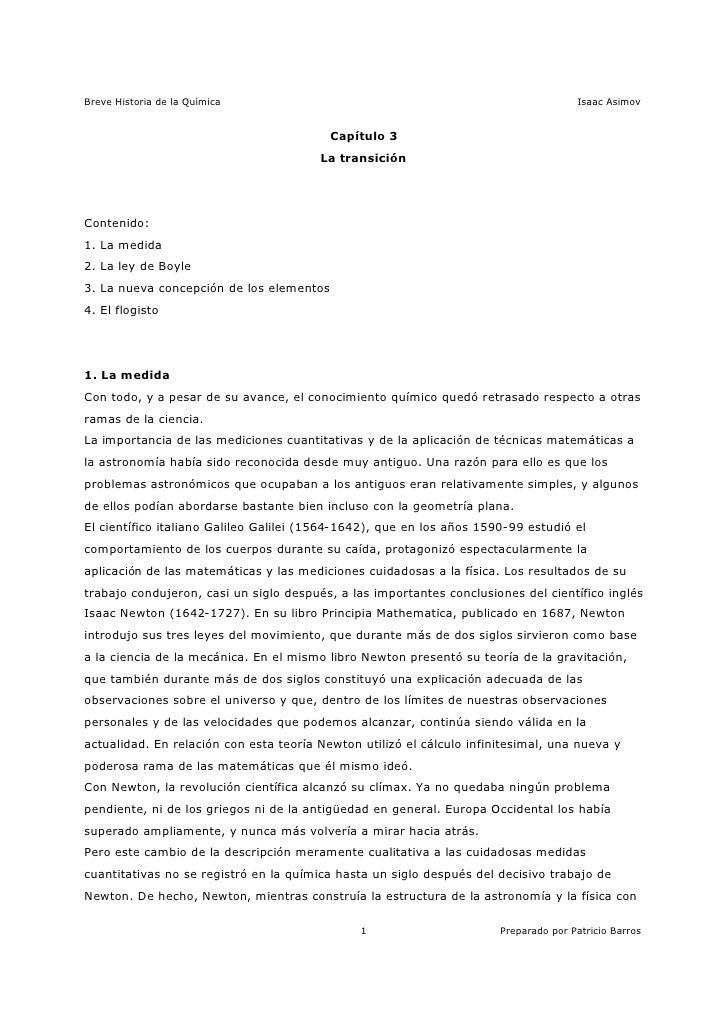 Asimov breve historia de la qu mica 4 15 for Resumen del libro quimica en la cocina