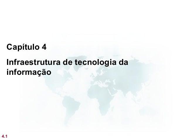 Capítulo 4  Infraestrutura de tecnologia da  informação4.1