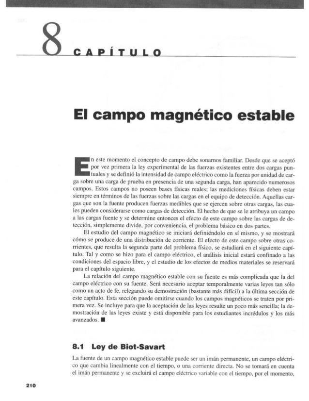 Capitulo 08   el campo magnético estable