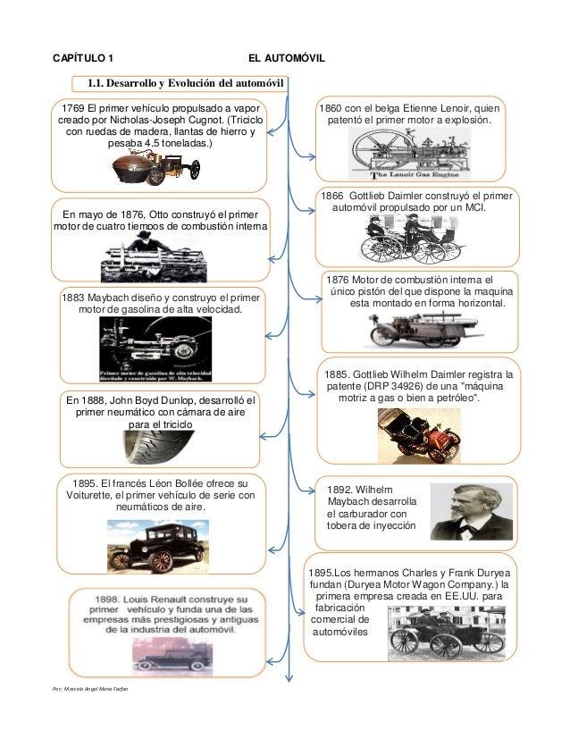 evolución del automóvil y su clasificacion