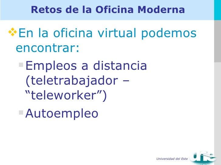 Capitulo 1 la oficina moderna1 for Oficina virtual empleo