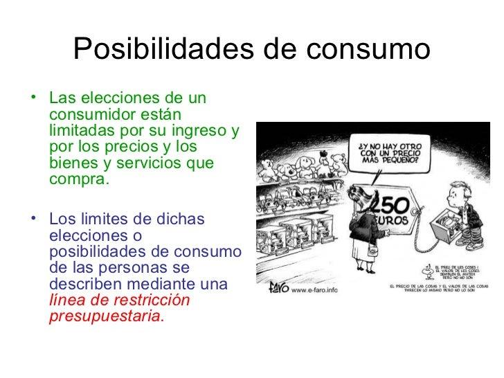 Posibilidades de consumo