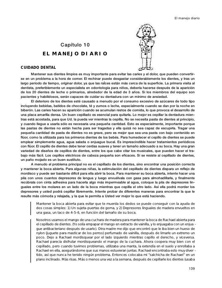 El manejo diario                               Capítulo 10               EL MANEJO DIARIO  CUIDADO DENTAL         Mantener...