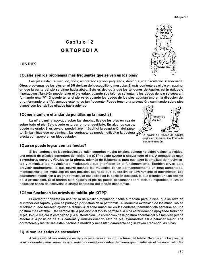 Ortopedia                                     Capítulo 12                             ORTOPEDIA  LOS PIES  ¿Cuáles son los...