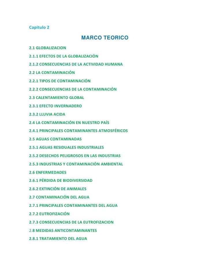 Capitulo 2<br />MARCO TEORICO<br />2.1 GLOBALIZACION<br />2.1.1 EFECTOS DE LA GLOBALIZACIÓN<br />2.1.2 CONSECUENCIAS DE LA...