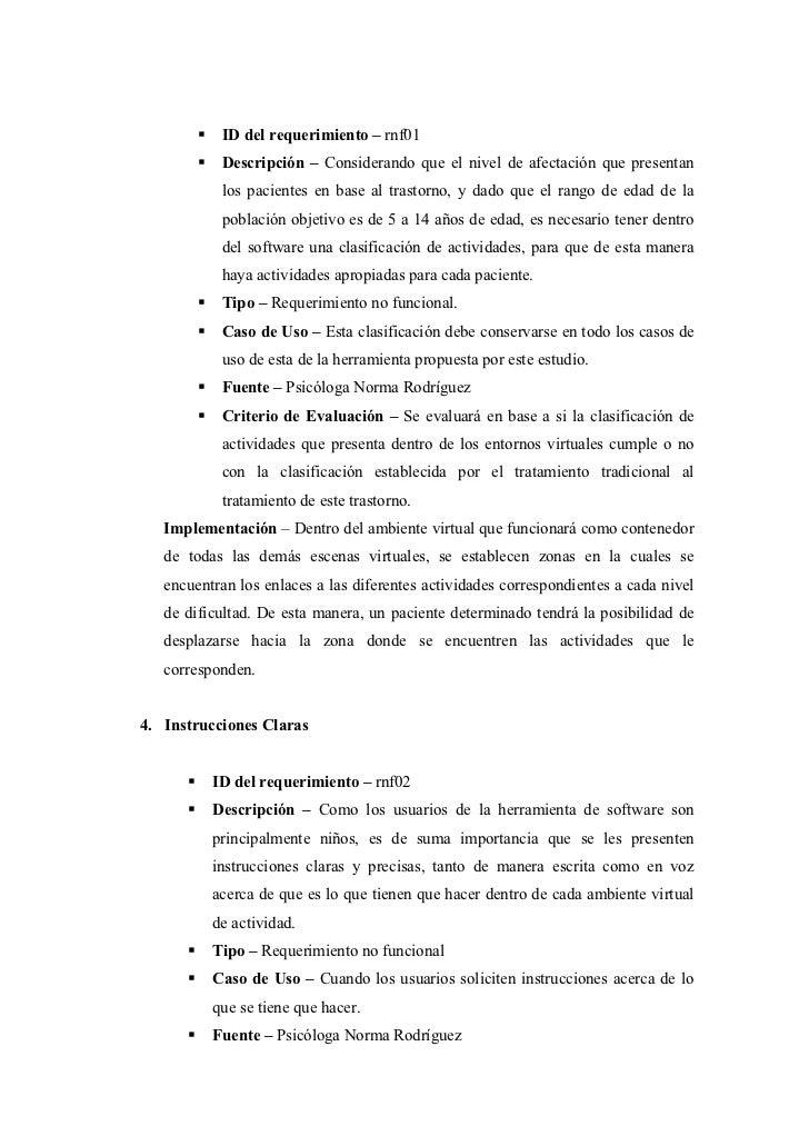 ID del requerimiento – rnf01           Descripción – Considerando que el nivel de afectación que presentan           los p...