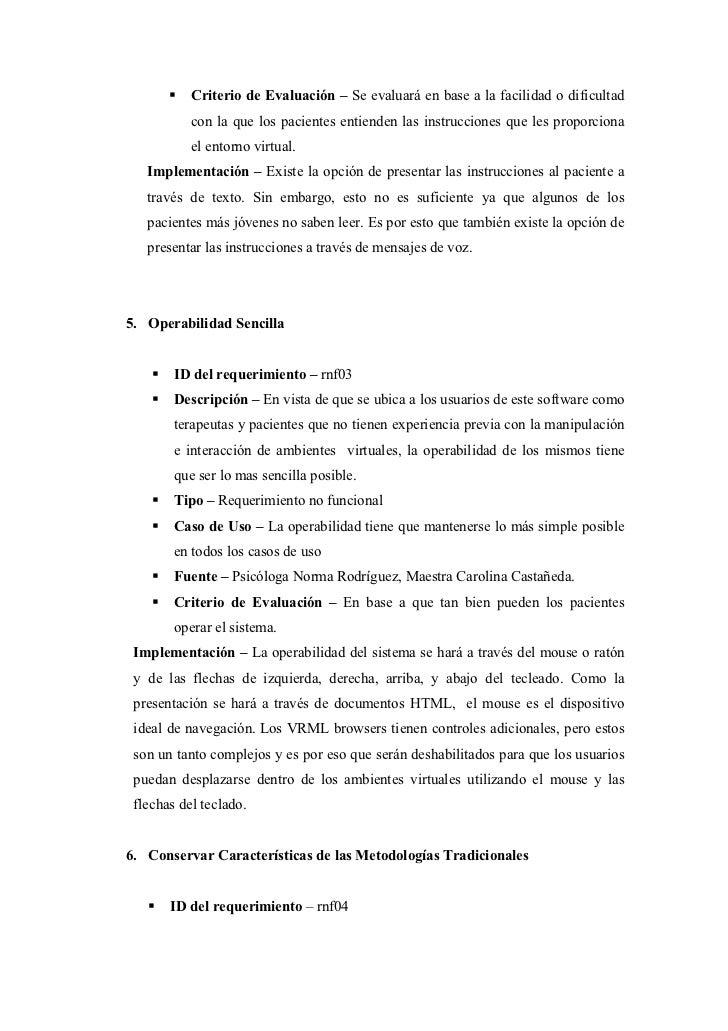 Criterio de Evaluación – Se evaluará en base a la facilidad o dificultad           con la que los pacientes entienden las ...