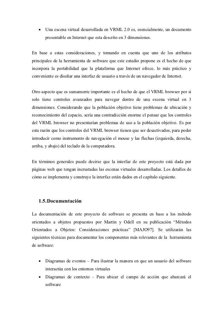 •   Una escena virtual desarrollada en VRML 2.0 es, esencialmente, un documento       presentable en Internet que esta des...