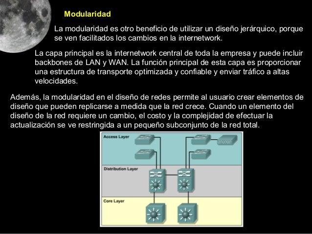 Modularidad            La modularidad es otro beneficio de utilizar un diseño jerárquico, porque            se ven facilit...