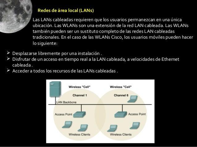 Redes de área local (LANs)            Las LANs cableadas requieren que los usuarios permanezcan en una única            ub...