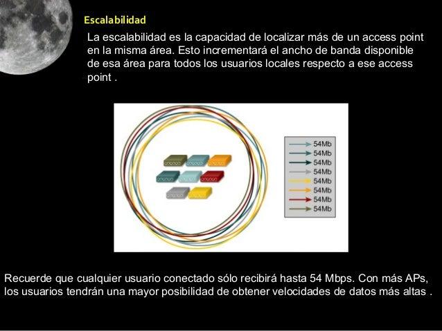 Escalabilidad                La escalabilidad es la capacidad de localizar más de un access point                en la mis...