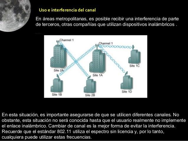 Uso e interferencia del canal               En áreas metropolitanas, es posible recibir una interferencia de parte        ...