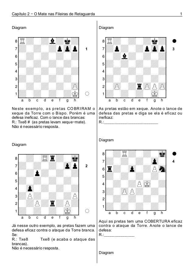 Capítulo 2 − O Mate nas Fileiras de Retaguarda 1 Diagram 1 + + + + + + + + + + + + + + + + + + + + + + + + + + + + + + Nes...