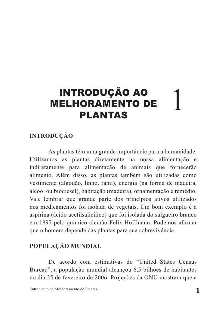 INTRODUÇÃO AO           MELHORAMENTO DE               PLANTAS                                                           1 ...