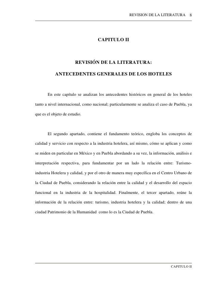 REVISION DE LA LITERATURA          8                                    CAPITULO II                        REVISIÓN DE LA ...