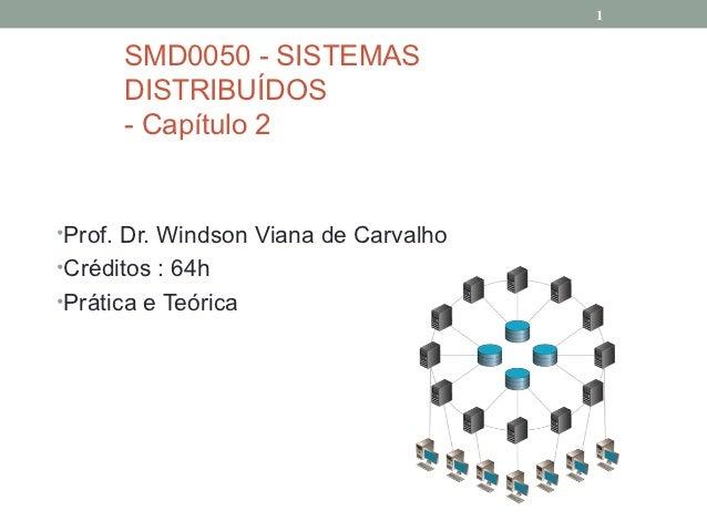 1      SMD0050 - SISTEMAS      DISTRIBUÍDOS      - Capítulo 2•Prof. Dr. Windson Viana de Carvalho•Créditos : 64h•Prática e...