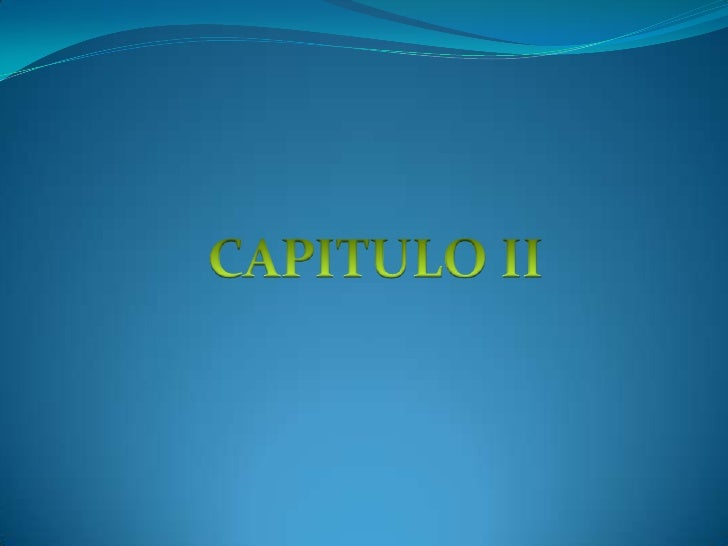 CAPITULO II<br />