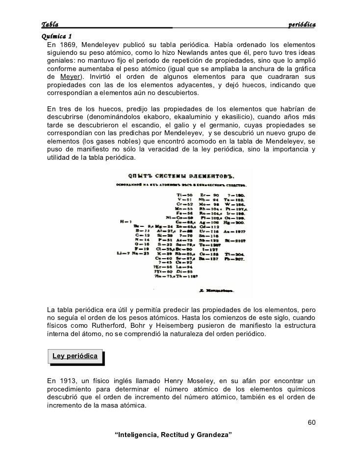 Tabla periodica tabla peridica qumica 1 en 1869 mendeleyev public su tabla peridica haba ordenado los elementos siguiendo su peso atmico como lo hizo newlands urtaz Images