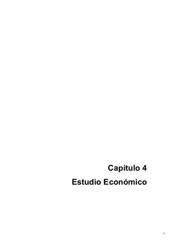 1Capítulo 4Estudio Económico
