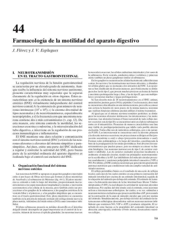 44Farmacología de la motilidad del aparato digestivoJ. Flórez y J. V. EspluguesI. NEUROTRANSMISIÓN                        ...