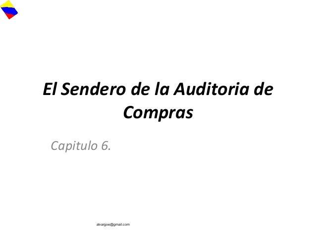 El Sendero de la Auditoria de Compras Capitulo 6.  alvargoe@gmail.com