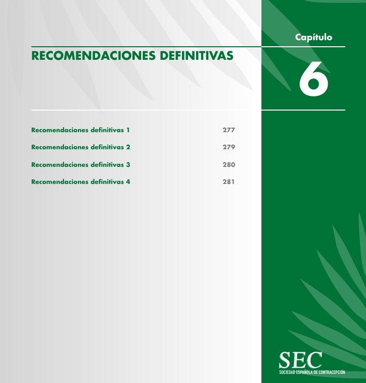 Capítulo  RECOMENDACIONES DEFINITIVAS                                                  6 Recomendaciones definitivas 1   2...