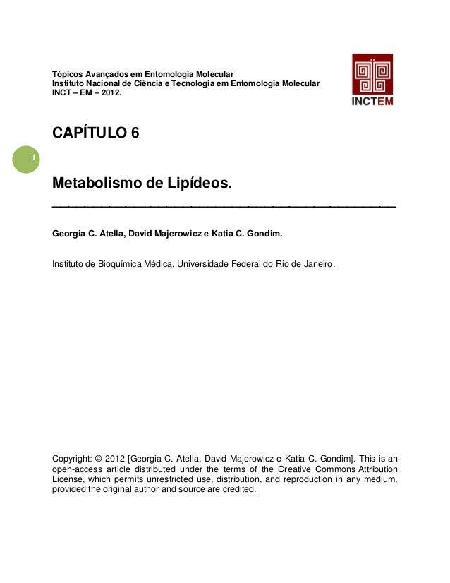1 Tópicos Avançados em Entomologia Molecular Instituto Nacional de Ciência e Tecnologia em Entomologia Molecular INCT – EM...