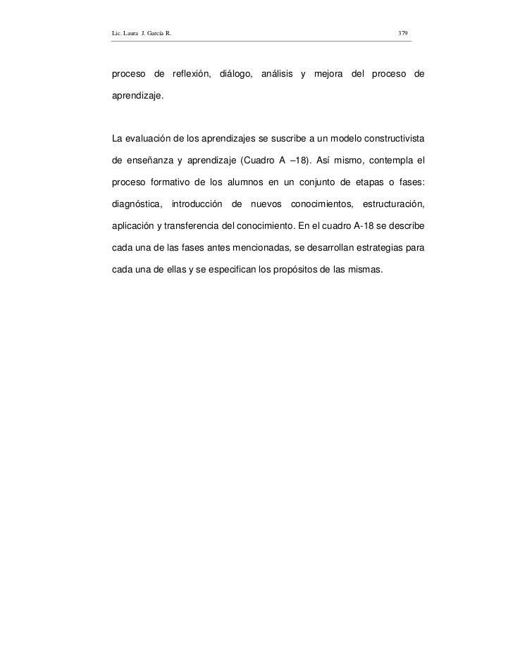 Lic. Laura J. García R.                                            379     proceso de reflexión, diálogo, análisis y mejor...