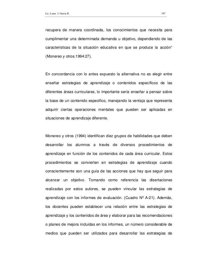 Lic. Laura J. García R.                                           397     recupera de manera coordinada, los conocimientos...
