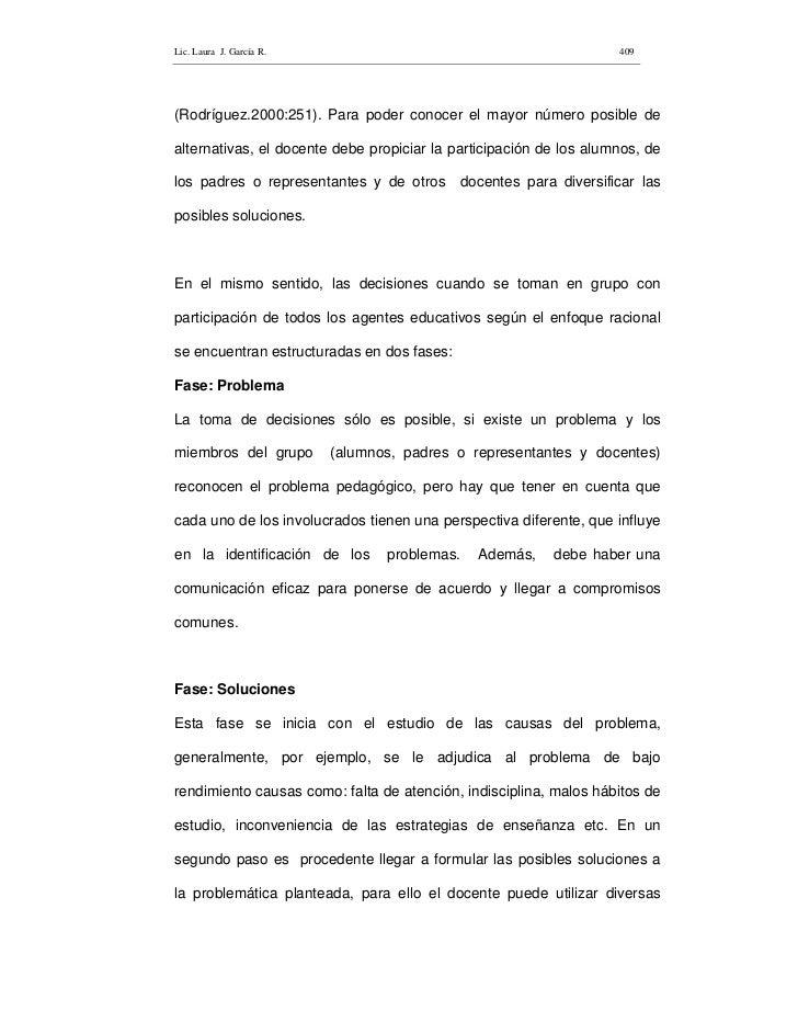Lic. Laura J. García R.                                             409     (Rodríguez.2000:251). Para poder conocer el ma...