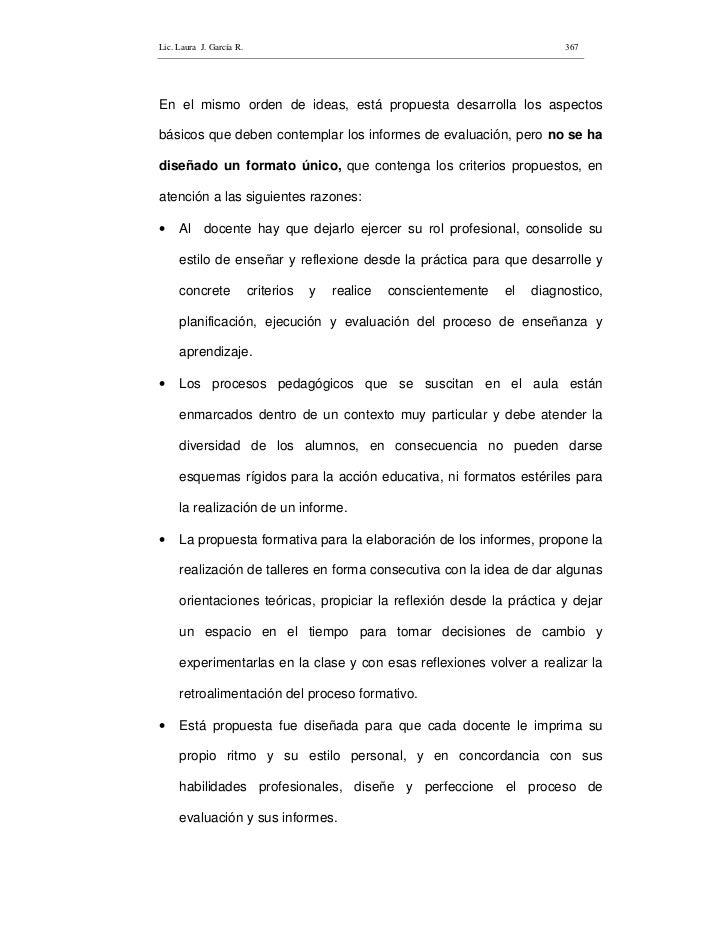 Lic. Laura J. García R.                                                         367     En el mismo orden de ideas, está p...