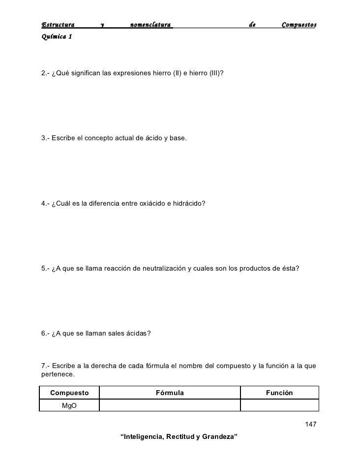Estructura Y Nomenclatura De Compuestos
