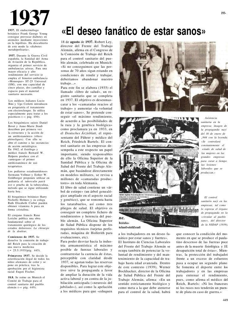 1937 1937. El endocrinólogo británico Frank George Young         «El deseo fanático de estar sanos»                       ...