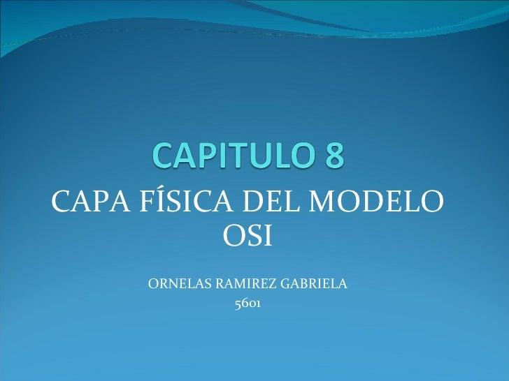 CAPA FÍSICA DEL MODELO OSI ORNELAS RAMIREZ GABRIELA 5601