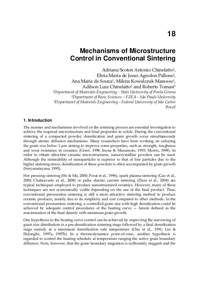 18                               Mechanisms of Microstructure                             Control in Conventional Sinterin...