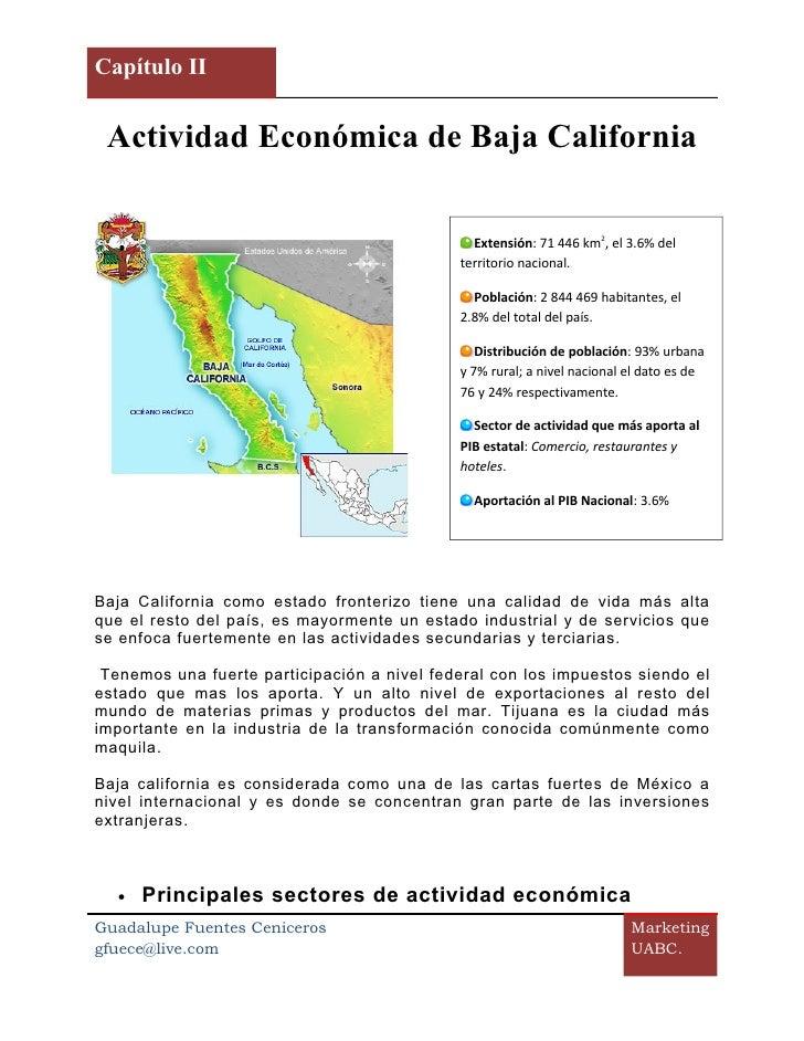 Capítulo II            []     Actividad Económica de Baja California                                                 Exten...