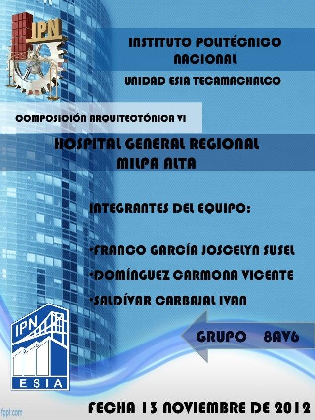 INSTITUTO POLITÉCNICO                          NACIONAL                  UNIDAD ESIA TECAMACHALCOCOMPOSICIÓN ARQUITECTÓNIC...