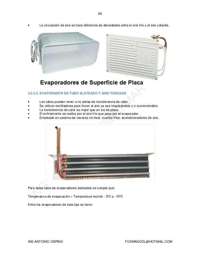 Que es un evaporador en refrigeracion