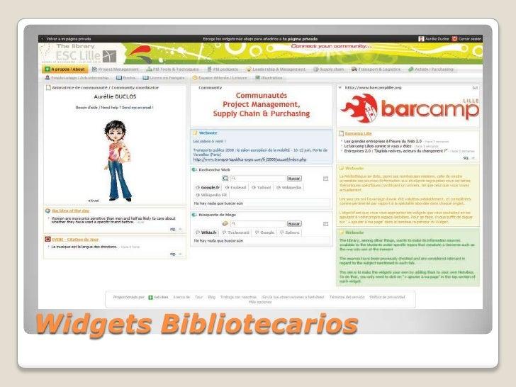 Widgets Bibliotecarios<br />