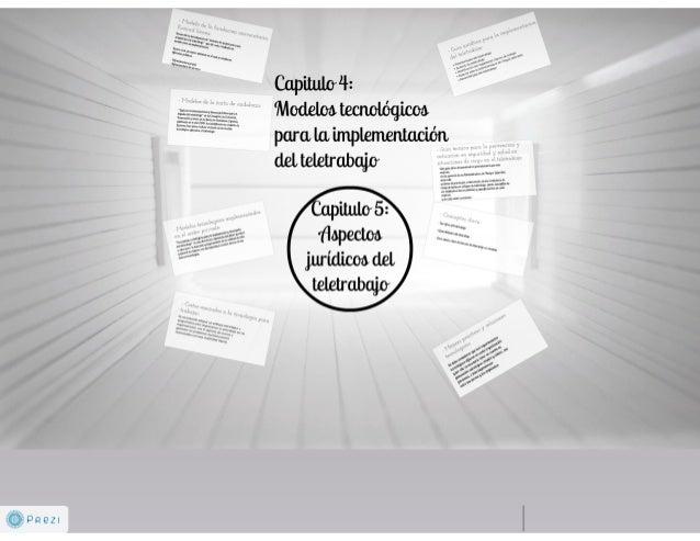 Capitulos 4 (modelos tecnologicos) y 5 (aspectos juridicos del teletrabajo)