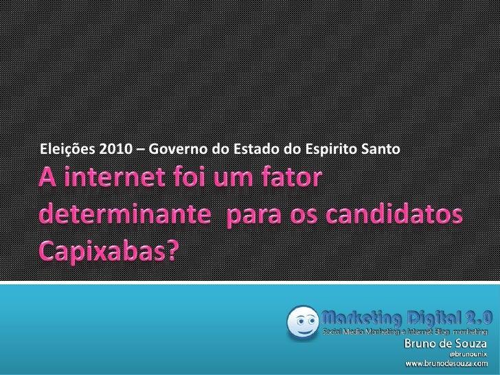 Eleições 2010 – Governo do Estado do Espirito Santo