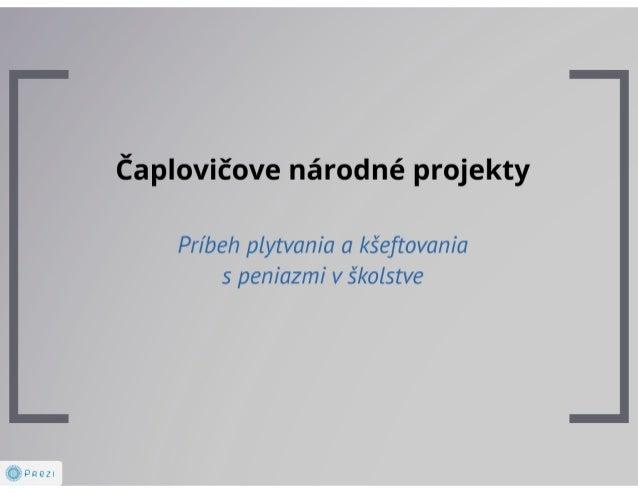 Čaplovičove národné projekty