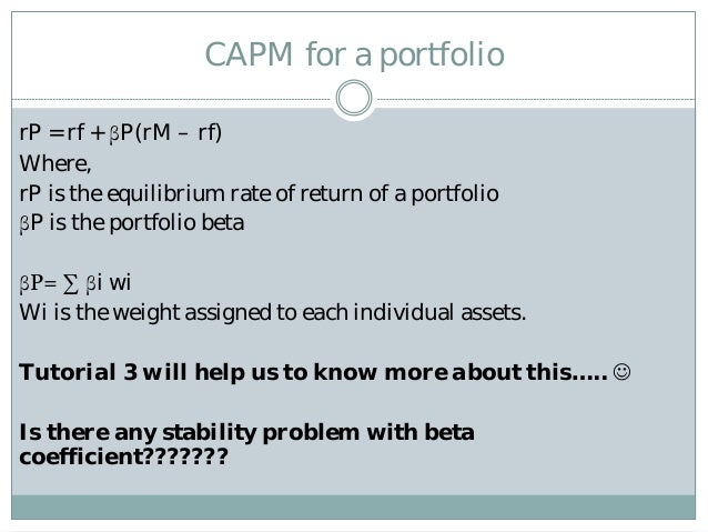 capm problem P a g e | 1 the capital asset pricing model versus the three factor model: a united kingdom perspective chandra shekhar bhatnagar department of social sciences, the.