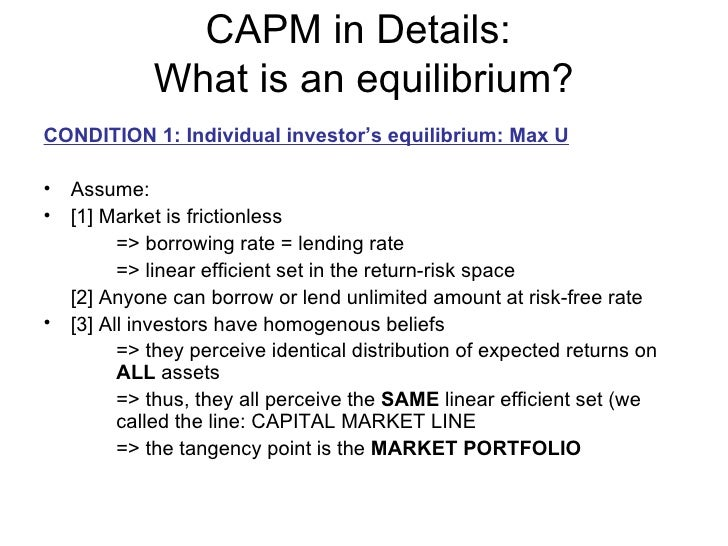 capm risk and beta In finance, the capital asset pricing model (capm) the x-axis represents the risk (beta), and the y-axis represents the expected return.