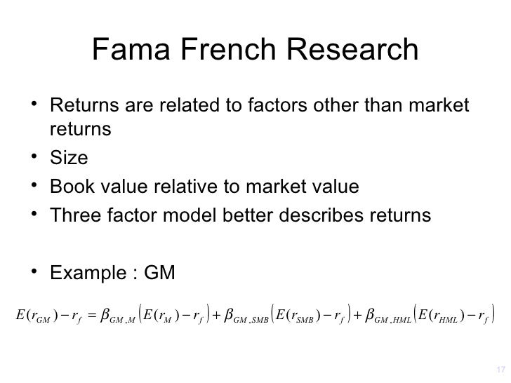 The Fama-French Three-Factor Model